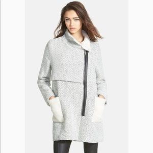 GLAMOROUS wool blend tweed coat size medium
